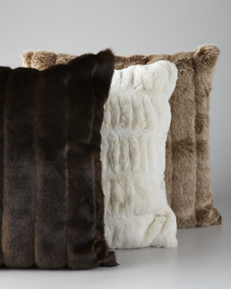 Brown Fur Throw Pillows : 11 best images about Living Room decor on Pinterest Sectional sofas, Trays and Grey