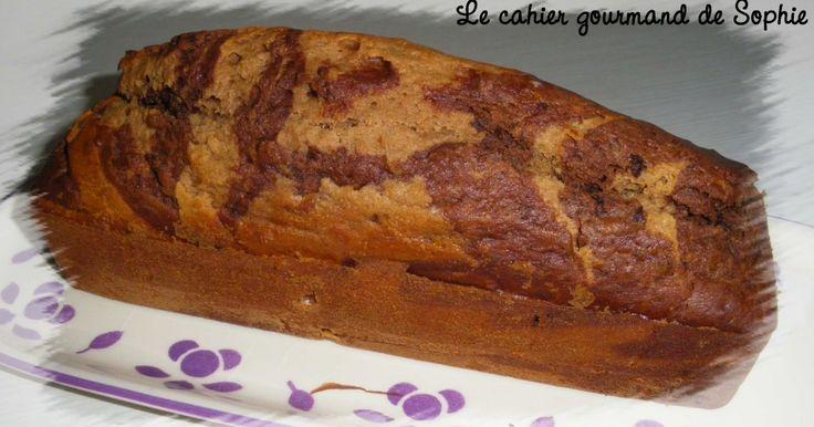 Recette - Cake marbré au chocolat et à la châtaigne   Notée 4.2/5