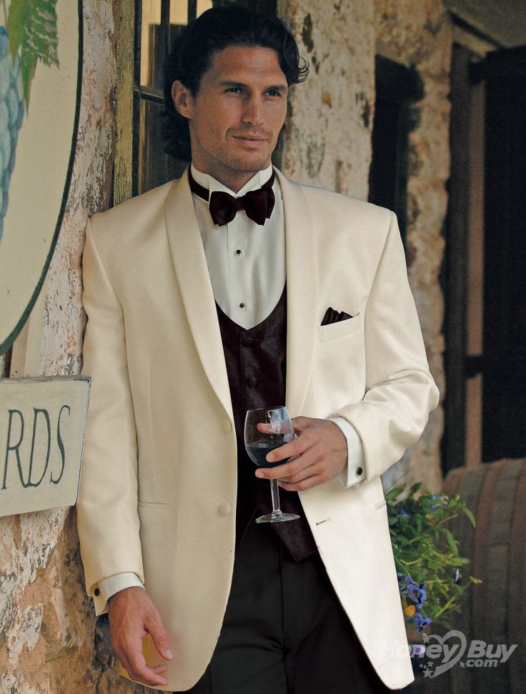 50 best wedding tux images on pinterest for Mens ivory dress shirt wedding
