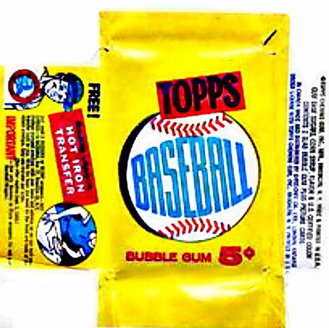1960 Topps Baseball Cards Wrapper