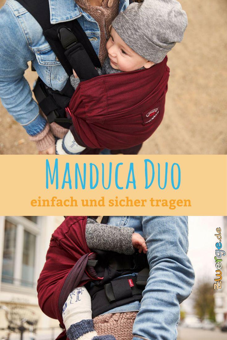 Mit der manduca Duo Bauchtrage kann nix schief gehen. Babytrage anziehen, Baby reinsetzen, 2 Klickverschlüsse schließen, Schultergurte straffen, fertig!  Supereinfach anzulegen! Ab Geburt nutzbar. Anleitung, Details und viele Bidler auf dem Blog. #babytrage #richtigtragen #sichertragen #tragehilfe #bauchtrage #manduca #manducaduo