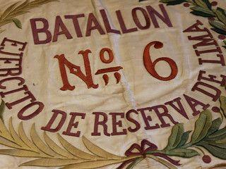 Estandarte del Batallón N° 6 capturado por el Regimiento Atacama durante la Guerra del Pacífico.