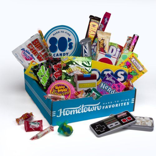 BESTSELLER! Hometown Favorites 1980`s Nostalgic Candy Gift Box, Retro 80`s Candy, 3-Pound $29.99