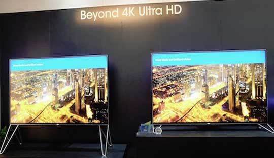 Sharp 4k and 8k TV appeared at CES 2015