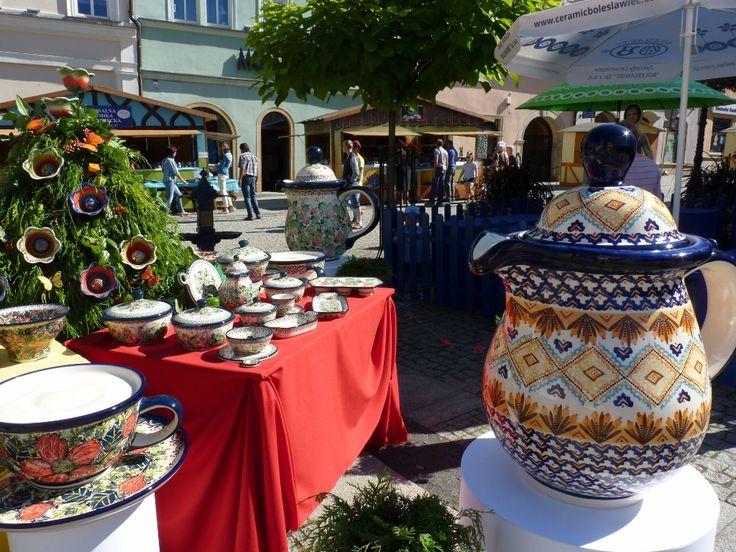 Bolesławieckiego Święta Ceramiki, 17-21 sierpnia 2016, kiermasz ceramiki na rynku w Bolesławcu