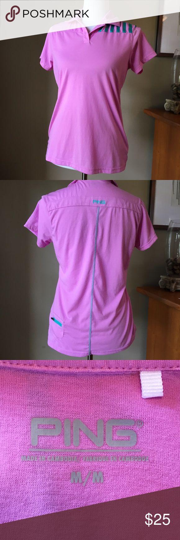 Ping women's golf shirt M Sensor cool golf shirt with key pocket on back Ping Tops