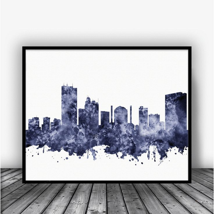 Toledo Skyline Black Art Print Poster by Carma Zoe From $10.00
