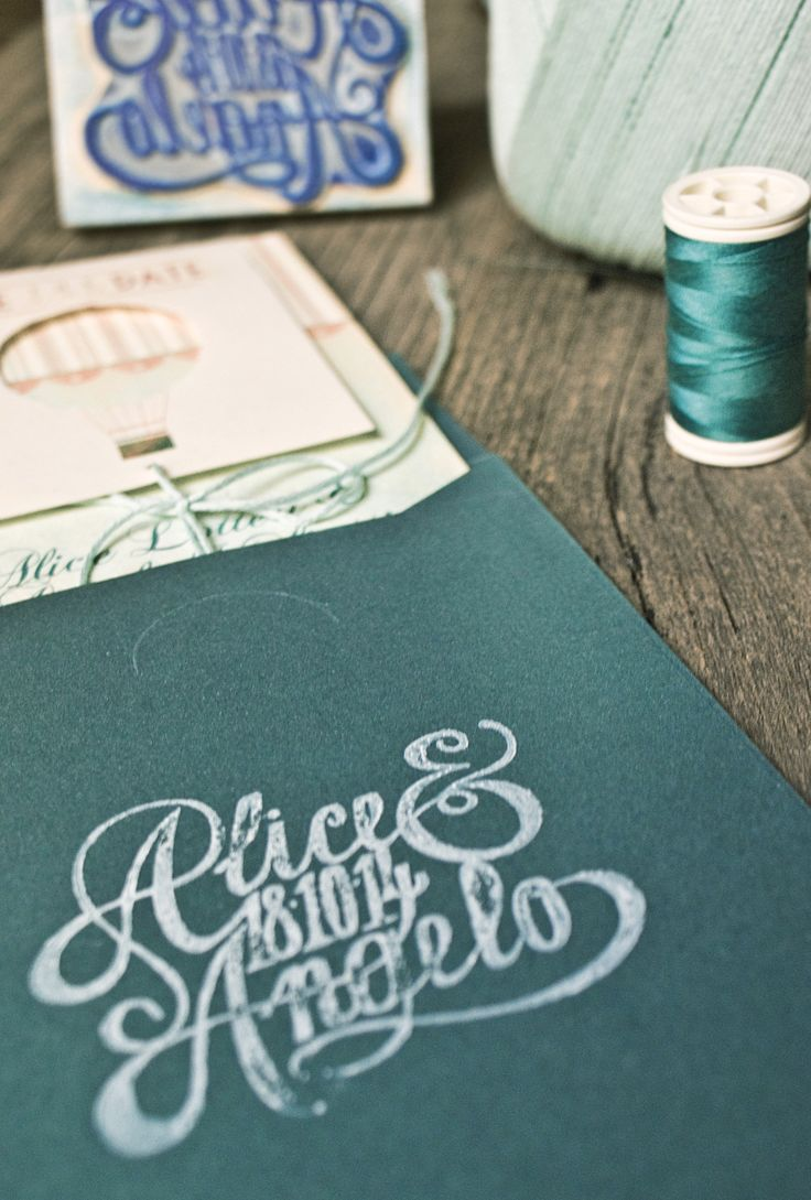 Rubber stamp - Hot Air Balloon Wedding by Mondo • Mombo