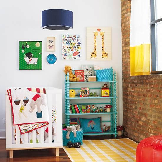 Kids' Bookcase: Kids Light Blue Spindle Bookcase in Back to School Sale | The Land of Nod