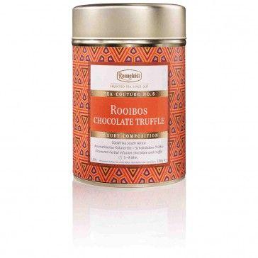 Tea Couture Ronnefeldt Rooibos Chocolate Truffle. (Zum Shop: http://www.hotel4home.com/restaurant-bar/tee-zubehoer/tea-couture-ronnefeldt-rooibos-chocolate-truffle-100g.html)