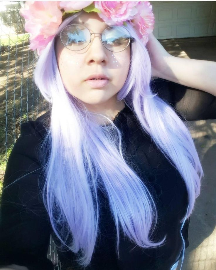 @fluffysempai Looking #gorgeous and #cute in Lush style: Lilac Sky  Thank you.  #lushwigs #wig #lushhair  Lilac Sky is in stock now. Visit: Lushwigs.com (link in bio) #lushwigslilacsky