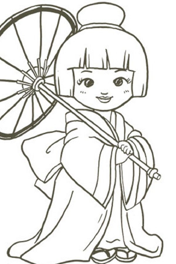 free coloring pages japanese girls - photo#6