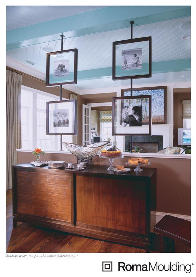 Floating frames as room dividers
