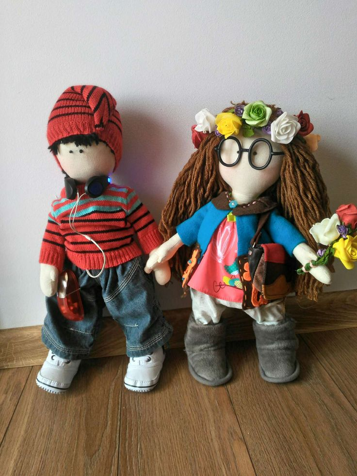 Crazy couple - handmade dolls