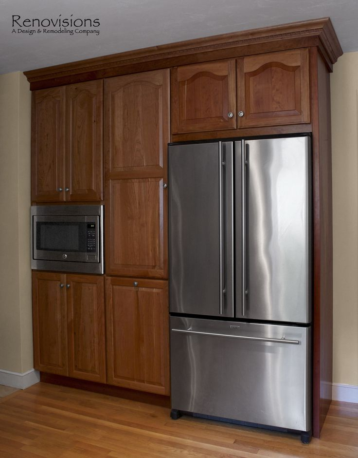 Kitchen remodel by renovisions natural cherry cabinets for Built in pantry cabinets for kitchen
