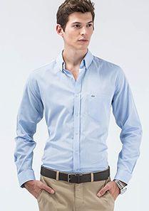 Lacoste Uzun Kollu Mavi Erkek Gömlek