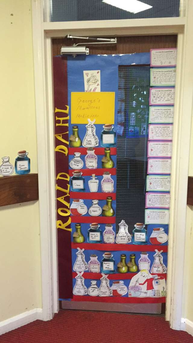Georges marvellous medicine door decoration