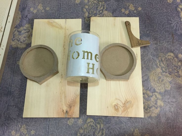 preparing to build a sconces from rustic wood