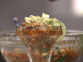 Y para comer que tal un rico Ceviche de Camarón. Mirciny Moliviatis, excelente chef !