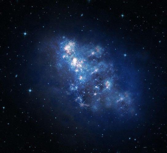 Zo zag de ruimte eruit in 2013 (© REUTERS/NASA/JPL-Caltech/SSI) - Een voorstelling door een kunstenaar van de melkweg z8_GND_5296. Door de ontdekking van deze afgelegen melkweg kunnen wetenschappers de geschiedenis van het universum bekijken tot 700 miljoen jaar na zijn creatie. Het duurde 13,1 miljard jaar voor het licht van de melkweg de ruimtetelescoop Hubble en het Keck Observatory in Hawaï bereikte.