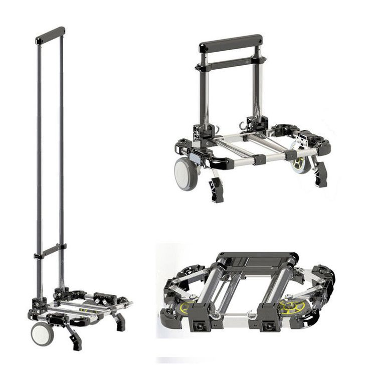 Multifunctional Folding portable trolley car Home aluminum alloy shopping cart. #Unbranded