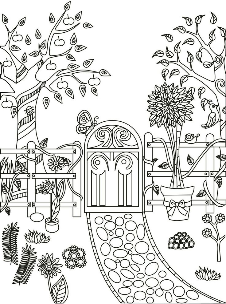 Adult Coloring Page Garden