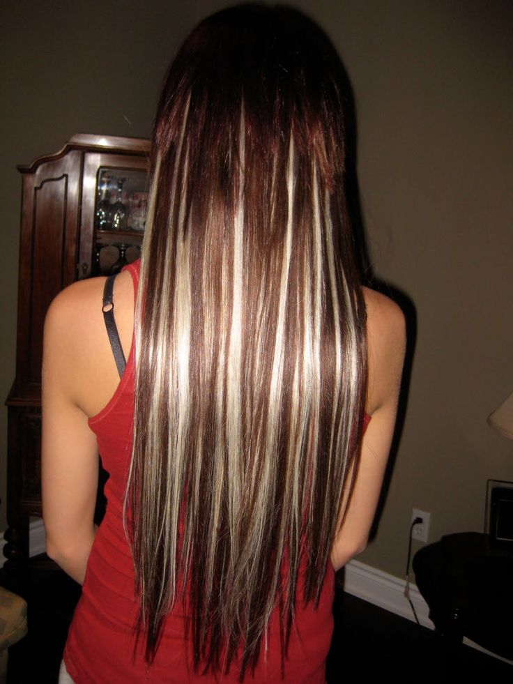 Dark Brown Hair With Platinum Blonde Highlights hair on pinterest dark ...