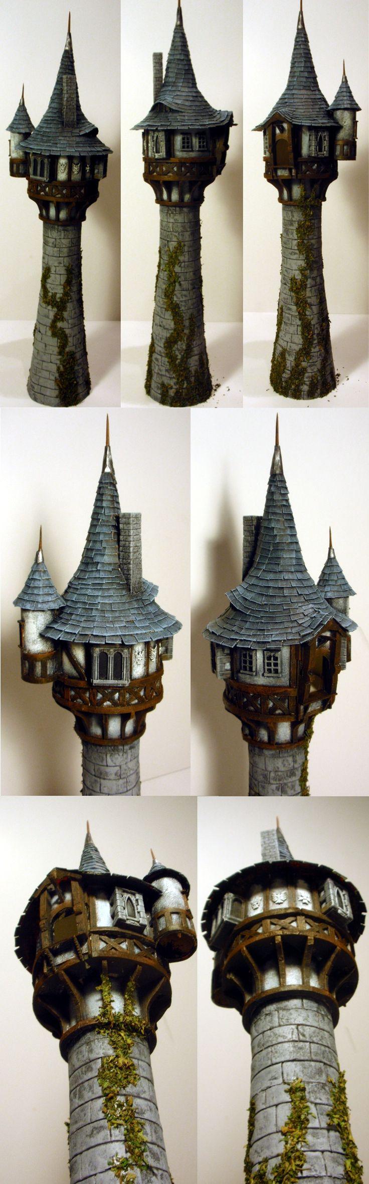 Tangled Tower by shadowwolf. I love the eyebrow window on the roof!