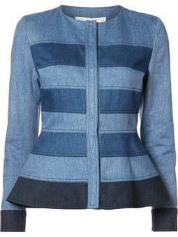 джинсовый пиджак с баской