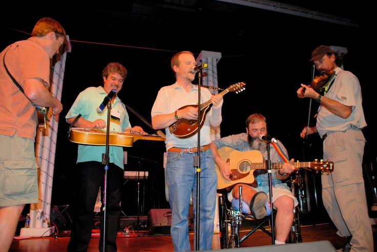 June, 2008. The X-Tension Chords unplugged, on the stage of the Traverse City Opera House: Robert Moore, Jeff Hino, Jim Coats, John Dickison, and Bruce Schultz.