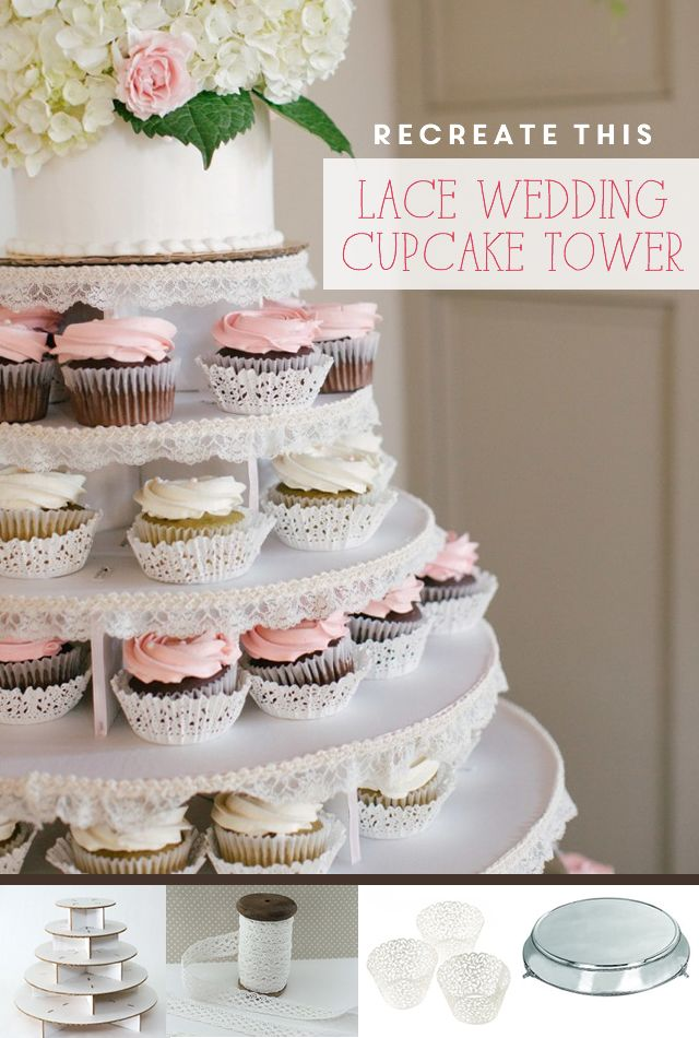 lace-wedding-cupcake-tower-stand-diy The Wedding Cupcake Blog - weddingcupcakes.org