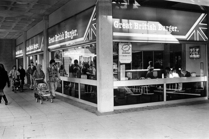 The Great British Burger, St David's Centre, Cardiff, in Jan 1988