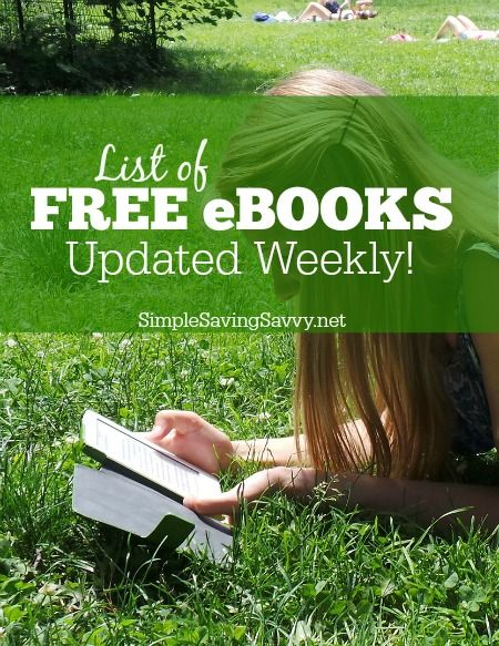 List of Free eBooks Updated Weekly