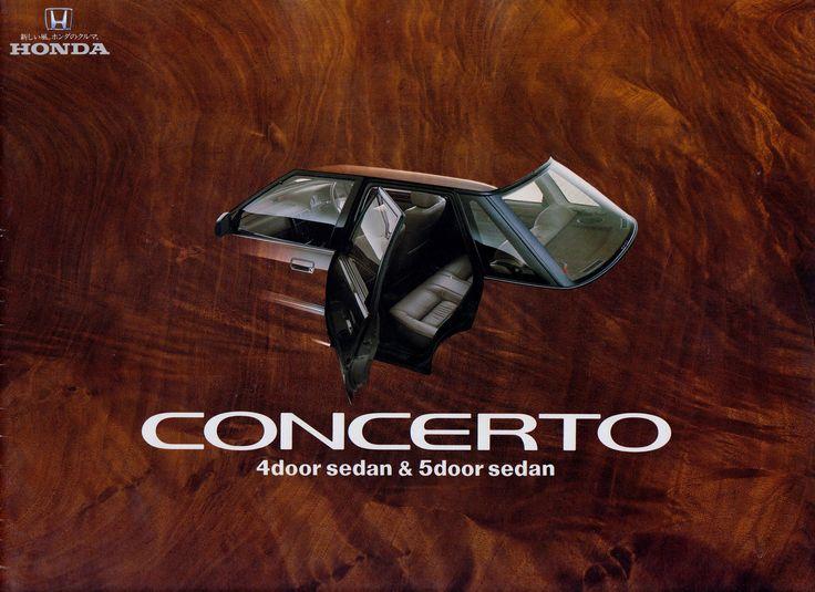 Honda Concerto Japan Brochure 1988