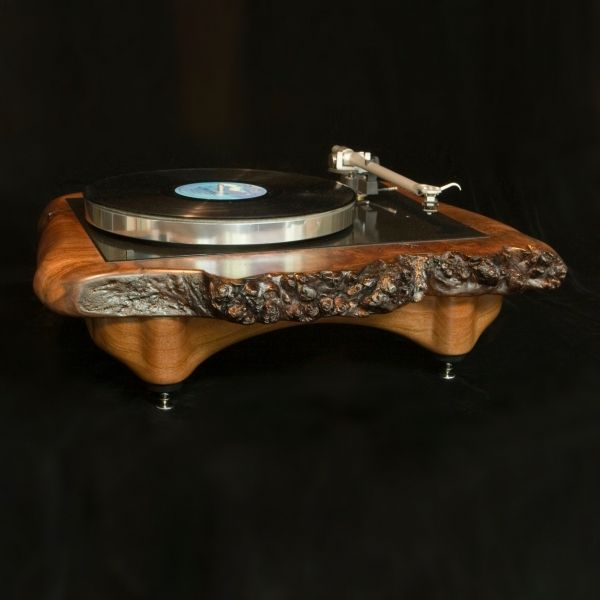 Handmade Solid Maple Hyperion Turntable by Audiowood