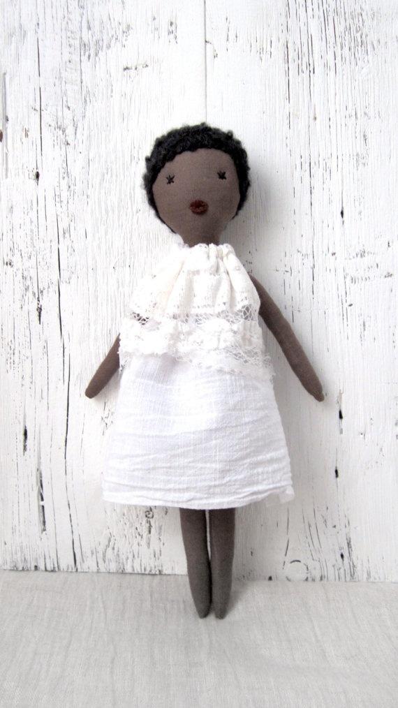 Soft doll Rag doll handmade one of a kind by lespetitesmainsS, $80.00