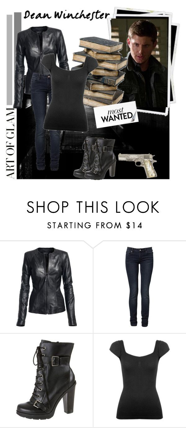 """""""Dean Winchester"""" by hannah-banana ❤ liked on Polyvore featuring Isabella Oliver, TALLY WEiJL, dean winchester, jensen ackles and supernatural"""