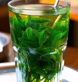 thé glacé à la menthe