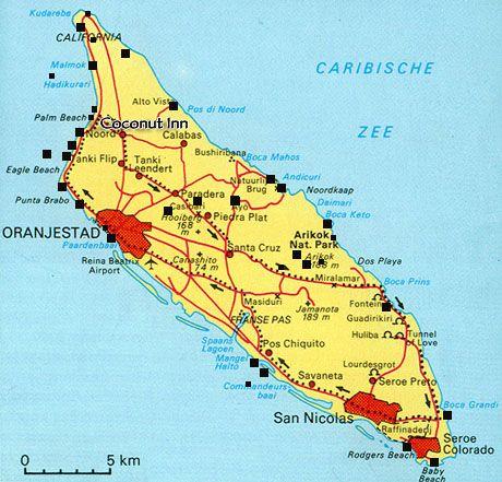 map showing aruba