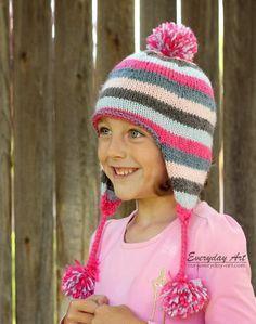 Everyday Art: Children's Knit Ear Flap Hat Pattern, free