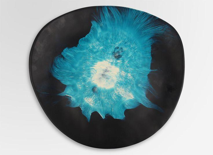 Dinosaur Designs AU Store - Large Resin Modern Tribal Platter - Moody Blue Swirl, AUD295.00 (http://www.dinosaurdesigns.com.au/large-resin-modern-tribal-platter-moody-blue-swirl/)