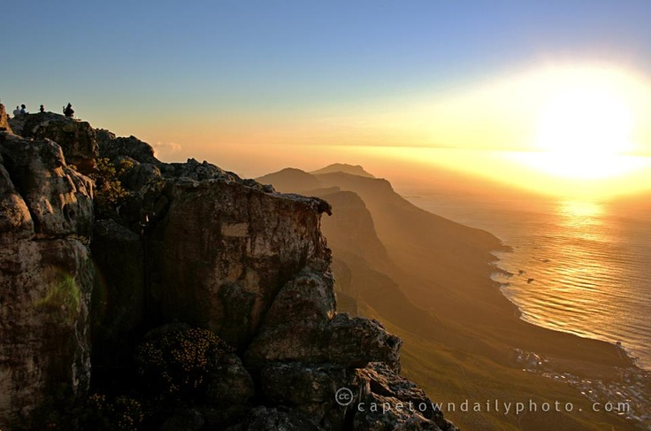 On top of Table Mountain. South Africa.