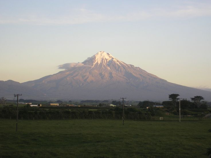 Mount Egmont in the early evening.