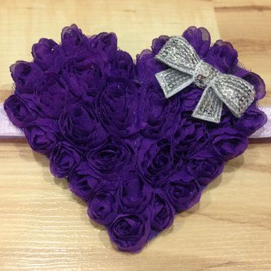 Large Whimsical Heart - Indigo, Silver and Lavender