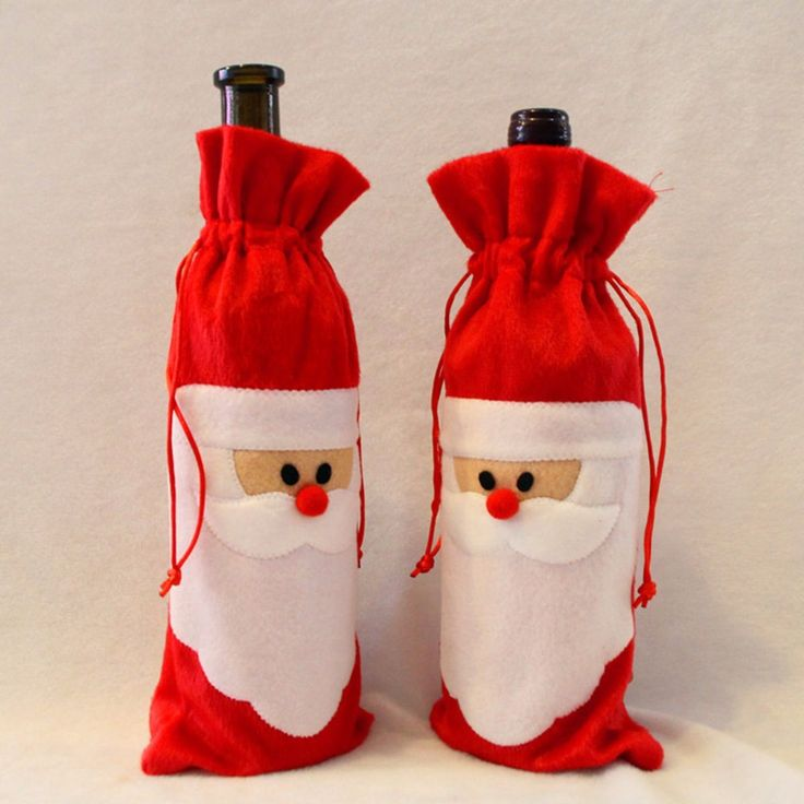 Encontrar Más Tapas de Botellas de vino Información acerca de 1 Unidades de Red Wine Bottle Cover Bolsas Dinner Table Decoration Home Party Decoraciones de Navidad de Santa Claus, alta calidad home interior decor, China decorating a frame homes Proveedores, barato home bath decor de Cell in Fire Fabulous Store en Aliexpress.com
