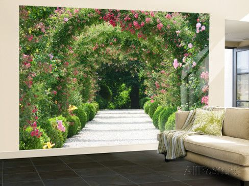 Rose Arch Garden Wall Mural - AllPosters.co.uk