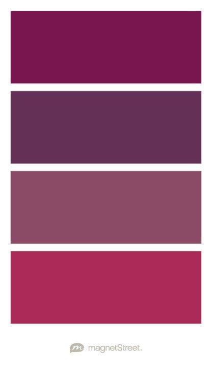 Sangria, Eggplant, Custom Brown, and Custom Pink Wedding Color Palette - custom color palette created at MagnetStreet.com