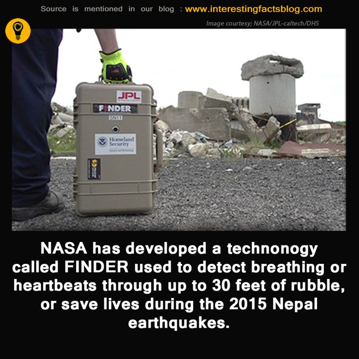NASA Finder Technology Detects Nepal Survivors by Their Heartbeats