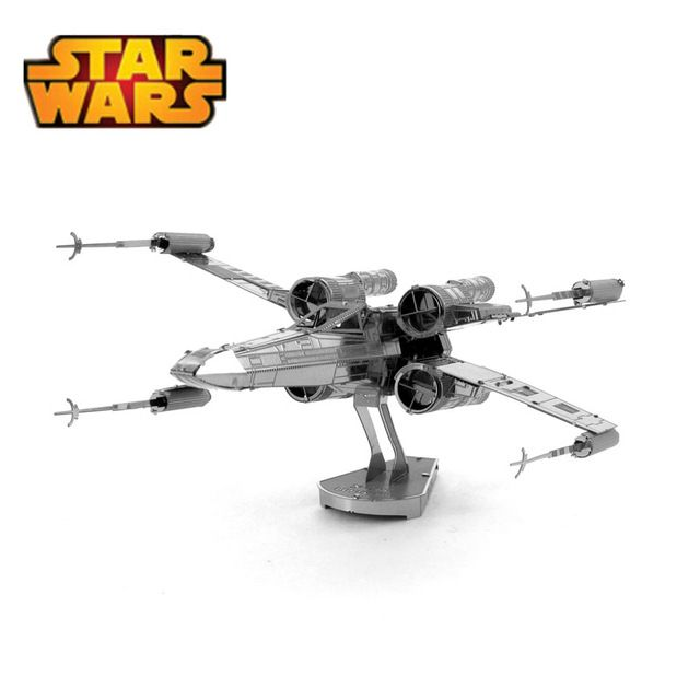 【 $3.99 & Free Shipping / Coupons 】Star Wars 3D Metal Puzzles Assemble DIY R2D2 Tie Xwing Fighter Millennium Falcon Model Toys | worth buying on AliExpress