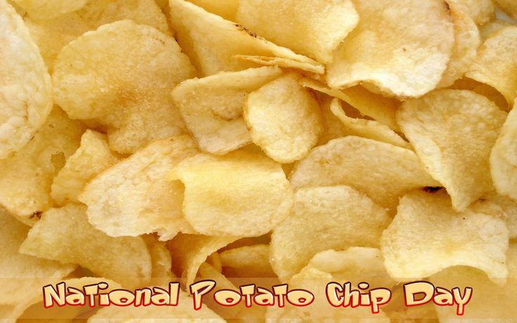 National Potato Chip Day is observed on March 14th. A potato chip is a thin slice of potato that is deep fried or baked until crunchy.